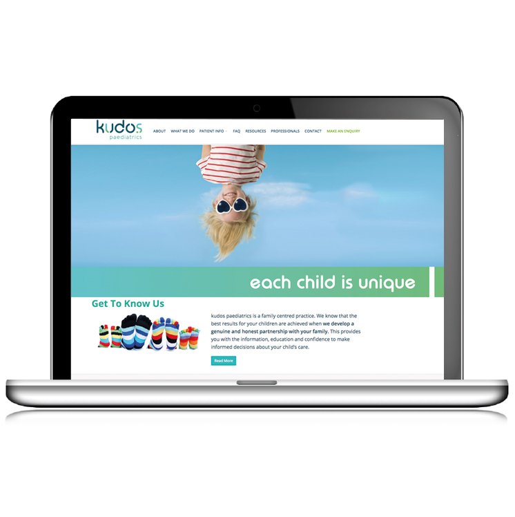 Kudos Paediatrics website