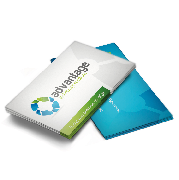 advantage technology business cards