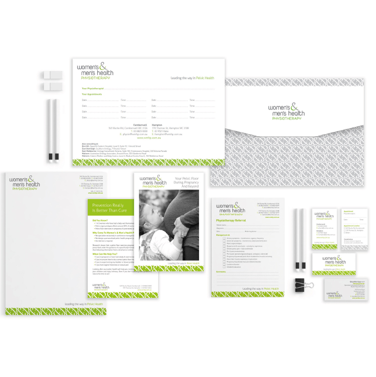 Women's & Men's Health Physiotherapy stationery